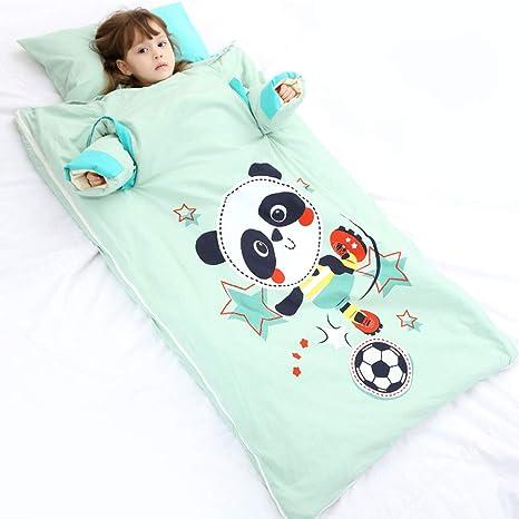 Saco de Dormir para bebés, Anti-Patada Infantil, edredón sin Sombrero de algodón