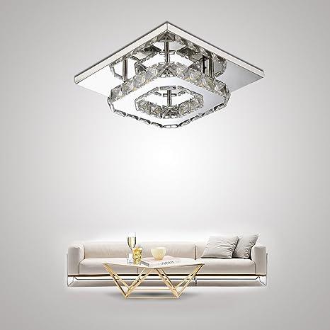 MYHOO 12W LED Lámpara de techo Luz de techo de cristal ...
