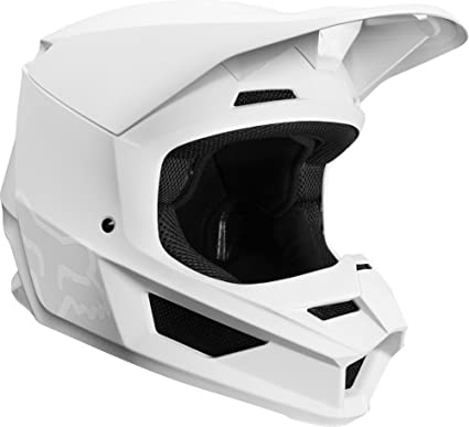 2019 Fox Racing V1 Matte Mens Off-Road Motorcycle Helmet - White/Large
