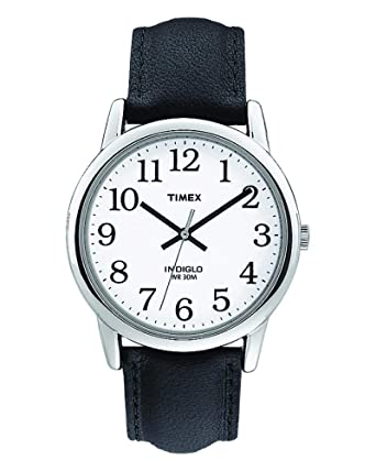1ce390cc3b004 Amazon.com  Timex Men s T205019J Easy Reader Black Leather Strap Watch   Timex  Watches