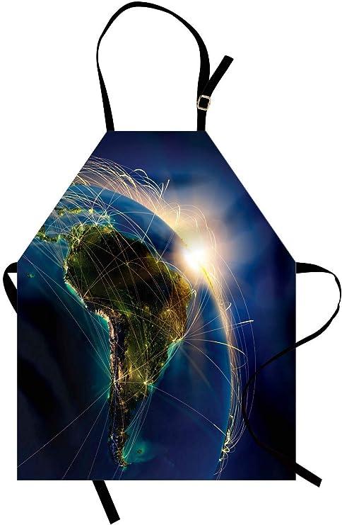 Argentina Delantal, Sol Naciente sobre el Planeta Tierra en la ...