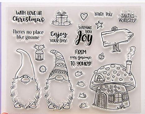 Sello de Santa Gnomo con troqueles de corte /álbumes de recortes juego de plantillas para manualidades tarjetas de papel decorativas /álbumes de fotos arte hecho a mano