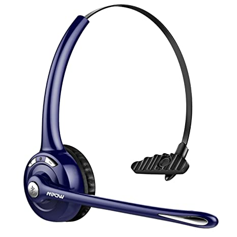 1c6820e0bf9 Mpow Pro Trucker Bluetooth Headset/Cell Phone Headset with Microphone,  Office Wireless Headset,