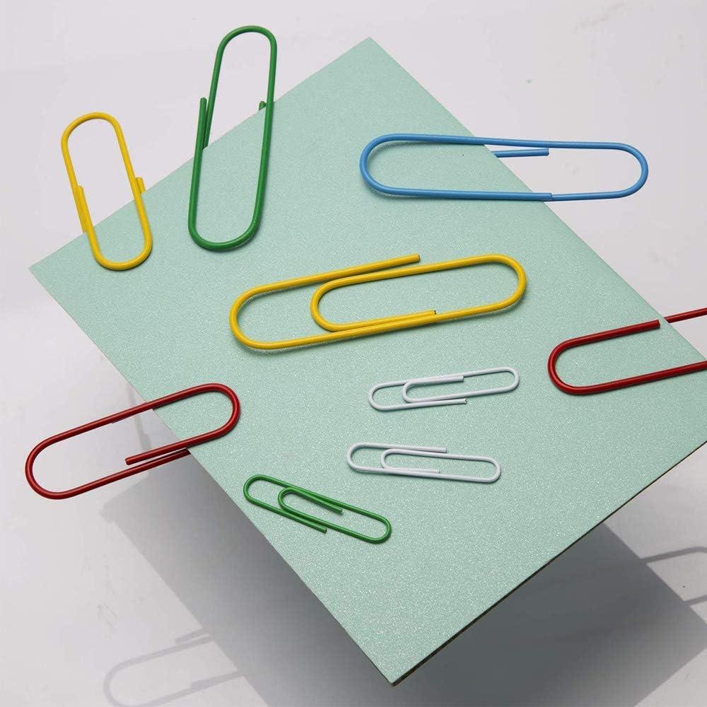 para Papeles Escuela Art/ículos Oficina 50 mm Metal Clips papel 100 mm) 250 Piezas Clip de Papel de Color Negro Con Caja Pl/ástico(28 mm