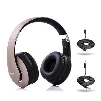 Auriculares Bluetooth Hatsutec con cable, inalámbricos, plegables, estéreo, con radio FM,