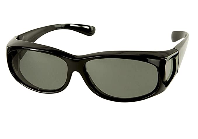 46eb262f27 LensCovers Sunglasses Wear Over Prescription Glasses Extra Small Black  Polarized