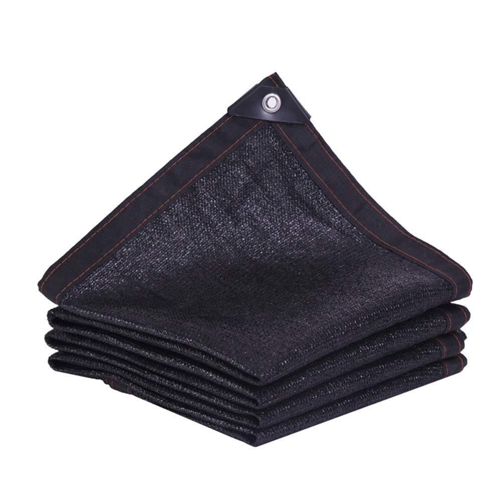 Rete ombreggiata nero Protezione solare Anti-UV Isolamento Punzonatura del bordo Rete Parasole Telone Telo Per la copertura di tetto di verdehouse Carport ( Colore   nero , Dimensione   45m )