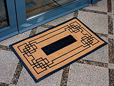 "Slonser Modern Welcome Mat - Carpet Entrance Rug Front Door Mat - Indoor Outdoor Easy Clean Floor Mat For Home 18""x30"" - Interior Rubber Doormat - Inside Outside Use - Keep Your House Clean and Cozy"