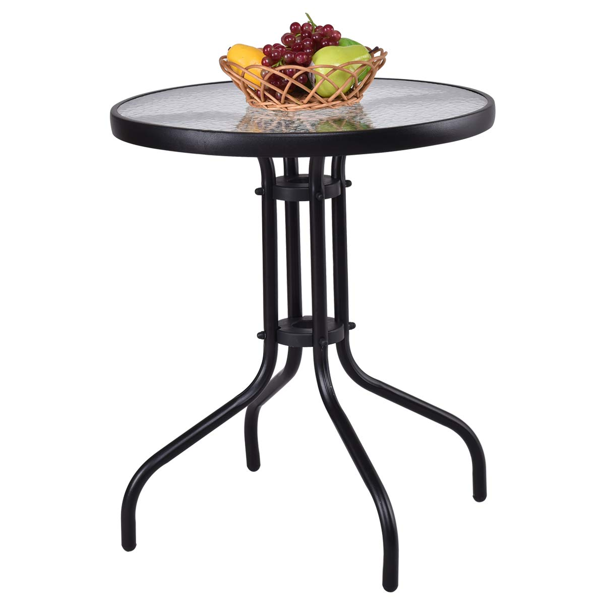 Round outdoor metal table Fermob Amazoncom Tangkula 24 Amazoncom Amazoncom Tangkula 24