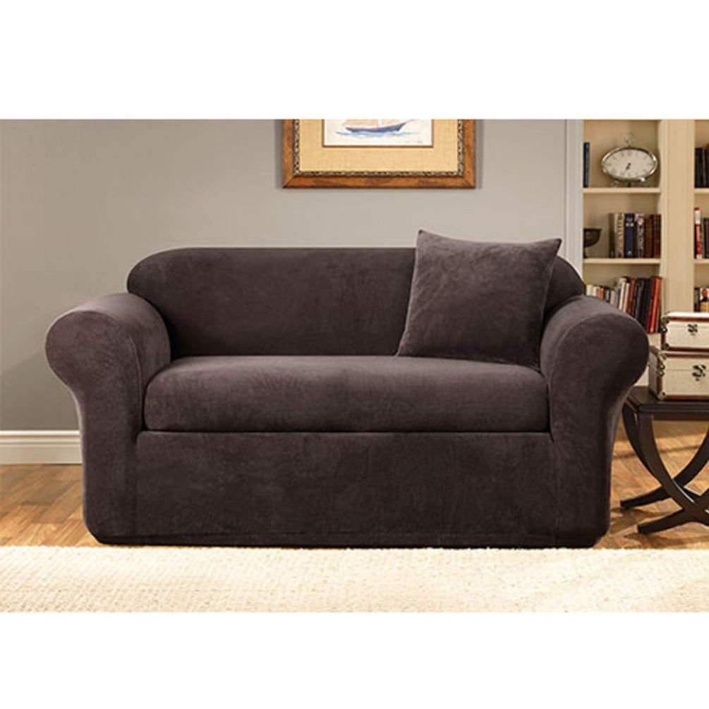 SureFit Stretch Metro 2-Piece - Loveseat Slipcover - Espresso Surefit Inc. SF39418