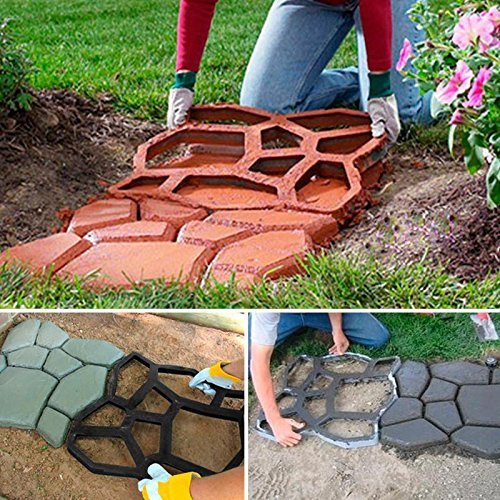Cheap  Topeakmart Path Paving Pavement Mold Driveway Walk Maker Patio Concrete Stepping Stone-Durable..