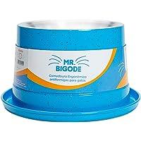 Comedouro Antiformiga para Gatos Mr. Bigode Azul, 250ml Nf Pet para Gatos, 250ml, Azul