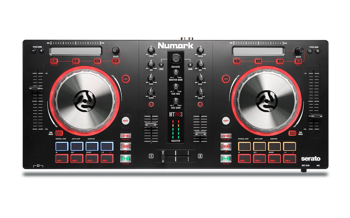 Numark Mixtrack Pro 3 | USB DJ Controller with Trigger Pads & Serato DJ Intro Download (Includes Built-In Sound Card) by Numark (Image #1)
