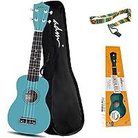 ADM Beginner Ukulele 21 Inch Soprano Kids Starter Pack Student Bundle Child Kit with Gig bag and Strap, Green