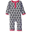 Yoga Sprout Baby Girl's Union Suit, Damask Collection, 3-6 Months