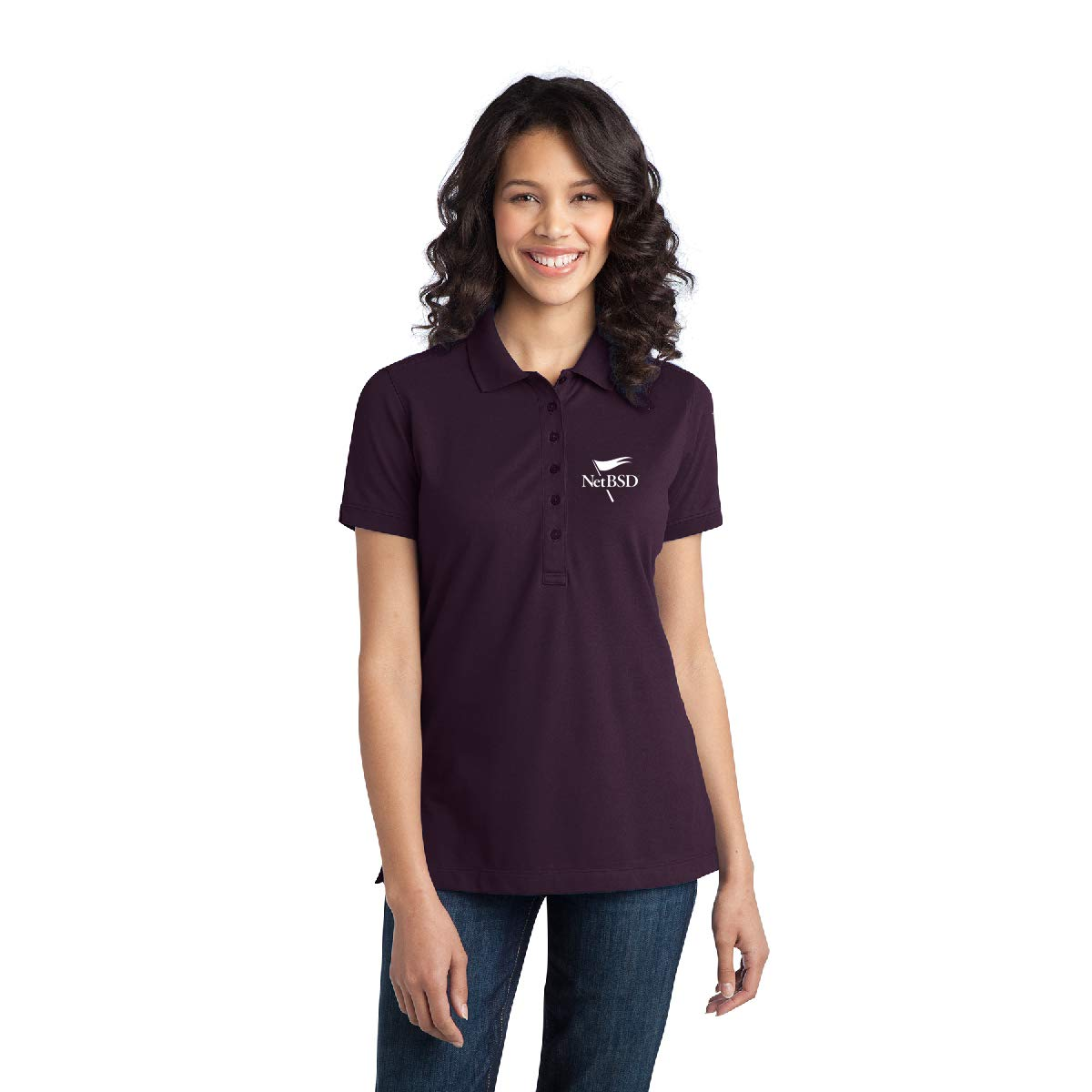 40.38 Per 6 Qty Ladies Stretch Pique Polo Promotional Product w//Your Logo