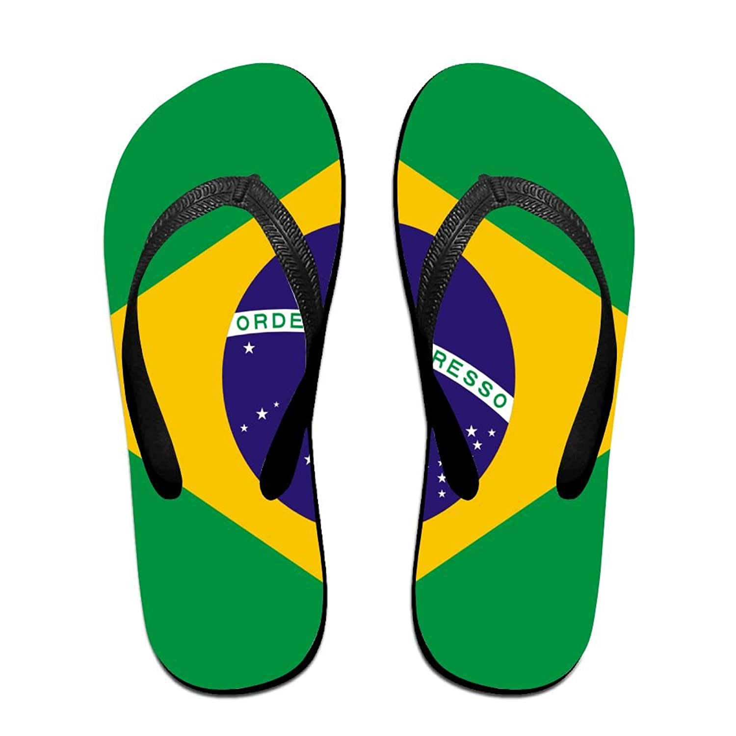 Flag Of Brazil Comfortable Flip Flops For Children Adults Men And Women Beach Sandals Pool Party Slippers