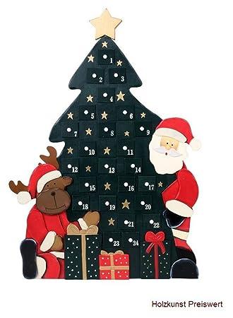 Weihnachtskalender Tannenbaum.Ld Weihnachten Deko Adventskalender Tannenbaum Holz Kinder