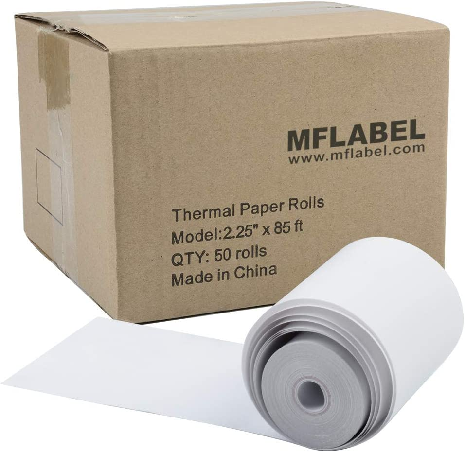 "MFLABEL 2 1//4/"" x 50 Thermal Paper Cash Register POS Receipt Paper 50 Rolls"