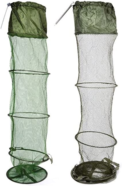 5-Layer Floating Wire Basket High Capacity Collapsible Fish Net Cage For Fishing