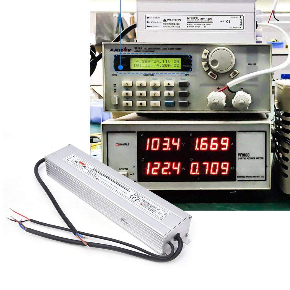 50//60Hz Encendido 24V 100W 4.17A IP67 a prueba de agua 24V 100W 4.17A Fuente de alimentaci/ón regulable Entrada LED AC170-260V Fuente de alimentaci/ón LED