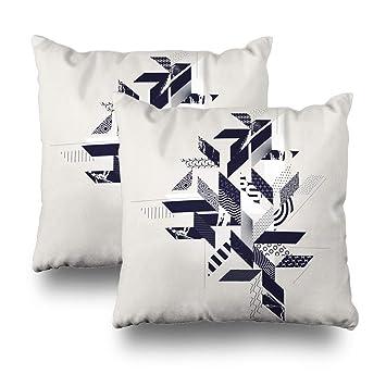 Amazon.com: Pakaku Juego de 2 fundas de almohada decorativas ...
