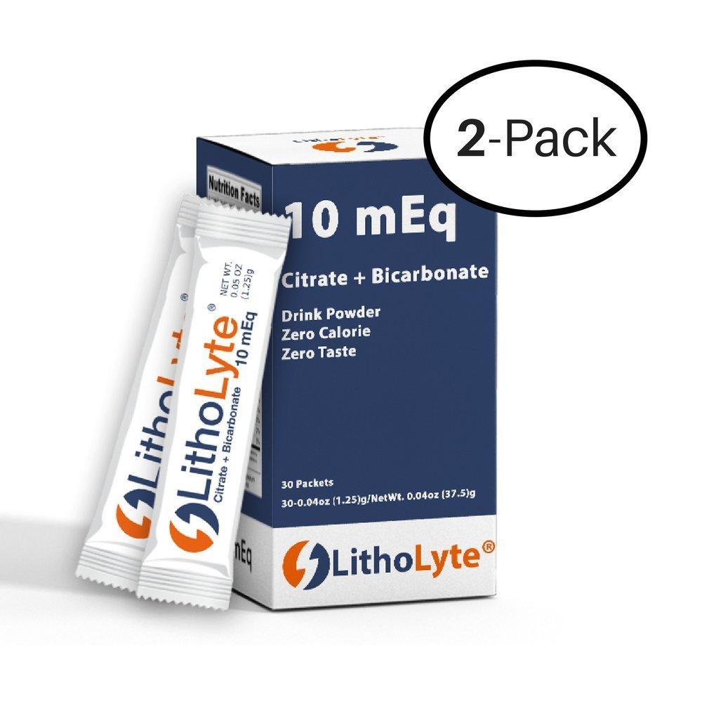 Kidney Health | Water Enhancer | LithoLyte 10 mEq, Developed by Urologists, 2 Pack (120 Sticks)