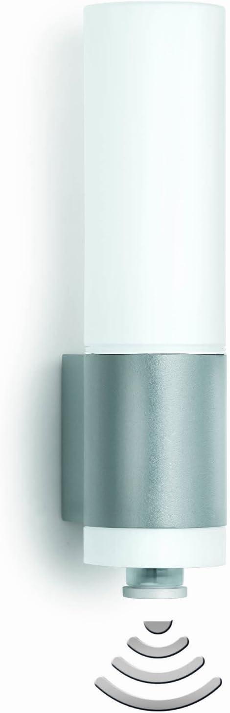 energieeffizient Steinel L 265 S Sensor-Leuchte mit LED-Lichtkranz und Power-LED-Effektlicht alu-silber Au/ßenleuchte Bewegungsmelder mit Sensortechnik 14W IP44