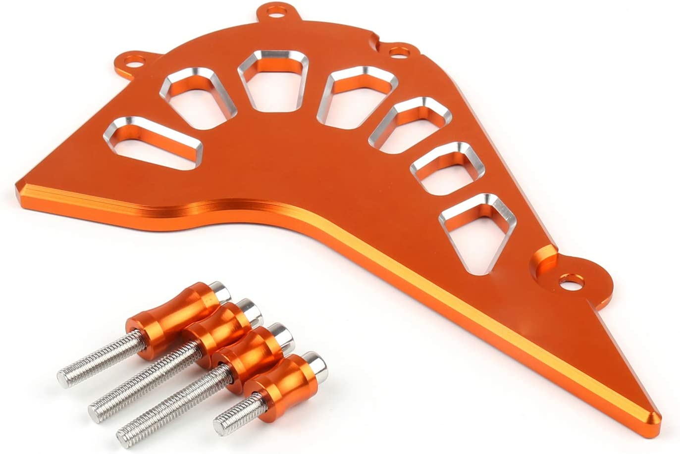 Areyourshop Orange Front Guard Chain Cover For DUKE 390