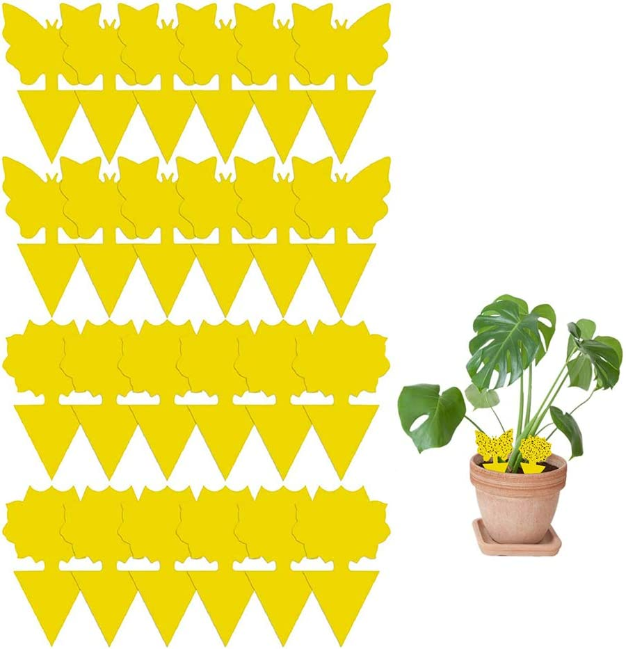 AWESMR Yellow Sticky Trap Flying Insect Sticky Gnat Catcher Dual-Sided for Flies, Aphids, Fruit Fly Indoor and Outdoor (24PCS)