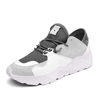 Summer air sports shoes/female net shoes,korean version of leisure flat bottom running shoes/students with thick soles of shoes-D Foot length=23.3CM(9.2Inch)