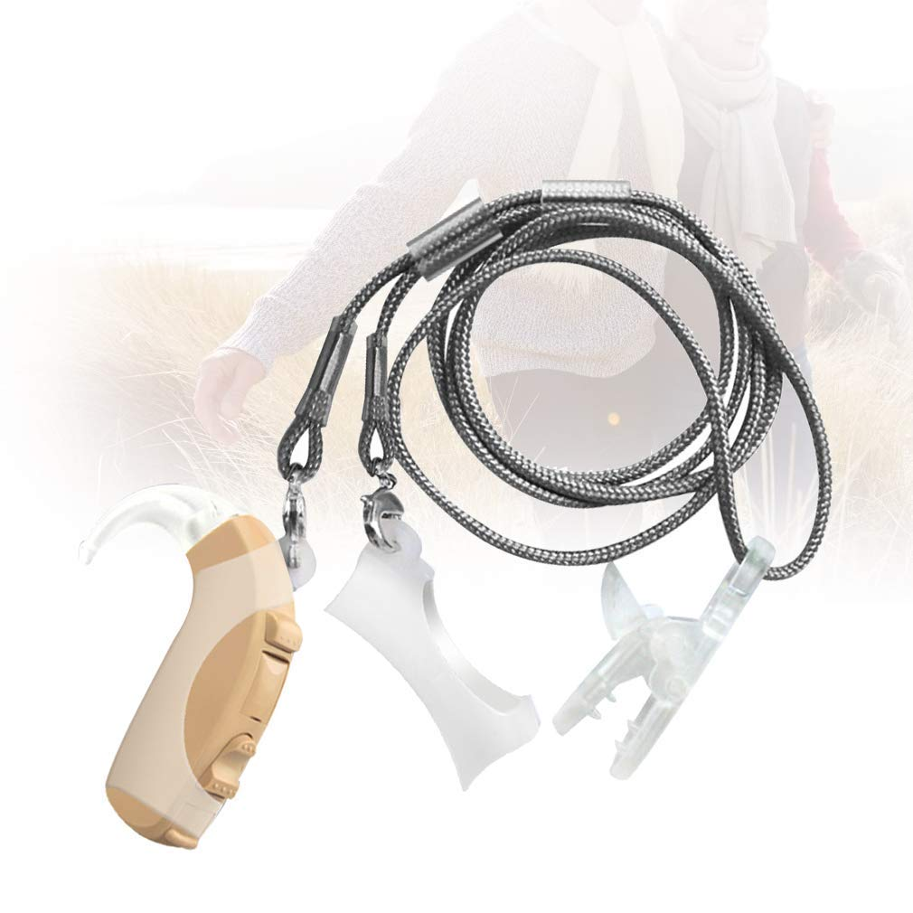 Hearing Amplifier Anti-Lost Rope Lanyard Protection Rope Portable with Storage Box for Seniors Color Random by ankt777