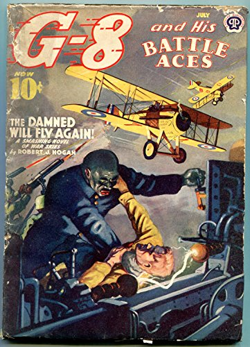 G-8 and his Battle Aces Pulp July 1940- Damned will for sale  Delivered anywhere in USA