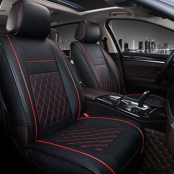 Docooler Universal Auto Sitzkissen Alle Auto Mode Luxus Pu Leder Unterstützung Pad Universal Auto Sitzkissen Autozubehör 1 Stücke Auto