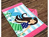 Multifunctional Tool Child Cotton Cartoon Girl Print Beach Towel (Colorful)
