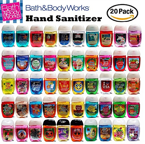 Bath And Body Works Anti Bacterial Hand Gel 20 Pack Pocketbac Sanitizers  Assorted Scents  1 Fl Oz Each