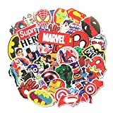 Cartoon Stickers, Echeer Superheros PVC Waterproof Stickers Decorate Laptop, Notebooks, Car, Bicycle, Skateboards, Luggage etc (50PCS No-Duplicate Stickers Pack)