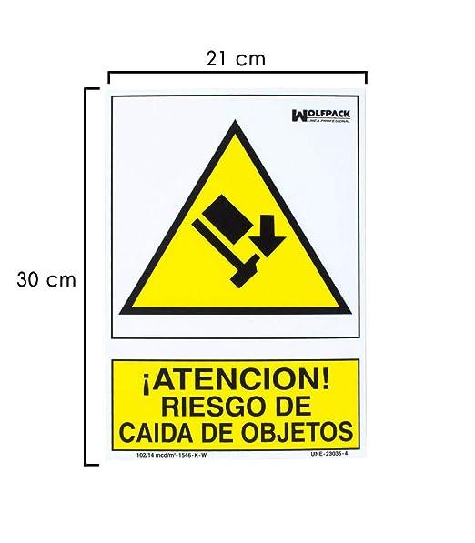Wolfpack 15050555 Cartel Riesgo Caida De Objetos 30x21 ...