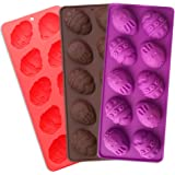 Easter Egg Mould Silicone Non Stick Chocolate Cake Mold Bakeware Bunny Ice Cube Tray DIY Tool Pastry Baking Mold Handmade Soap Mould - 2 Pack