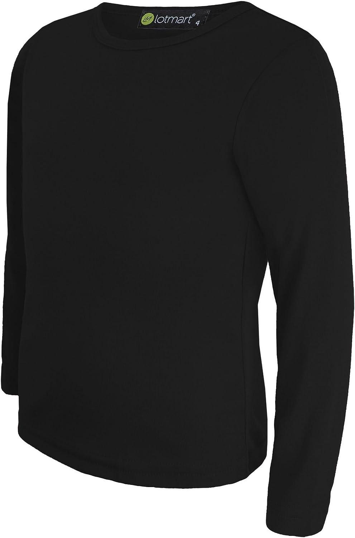 LOTMART Kinder Uni Lang/ärmlig Einfaches Top M/ädchen T-Shirt Jungen Tops T-Shirt