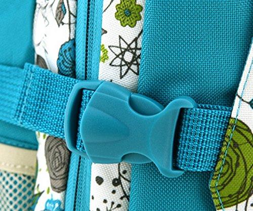 Aivtalk Bolso Maternal Mochila de Gran Tamaño Cambiador de Pañales con Ganchos de Carrito para Carro de Bebé Biberón Botella Comida Viaje 31cm(L) x 21cm(W) x 44cm(H) - Caqui Lunares Floral