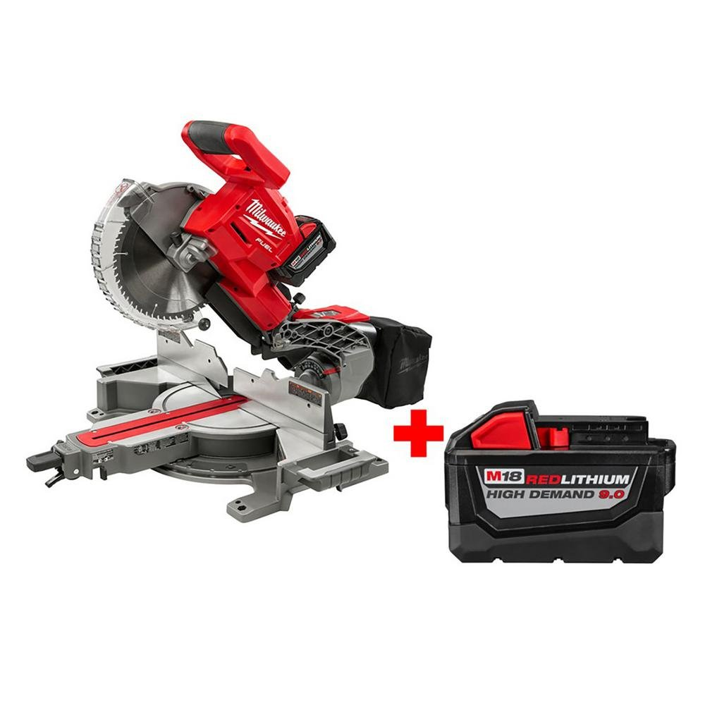1. Milwaukee 2734-21HDP FUEL 18V Lithium-Ion Compound Miter Saw