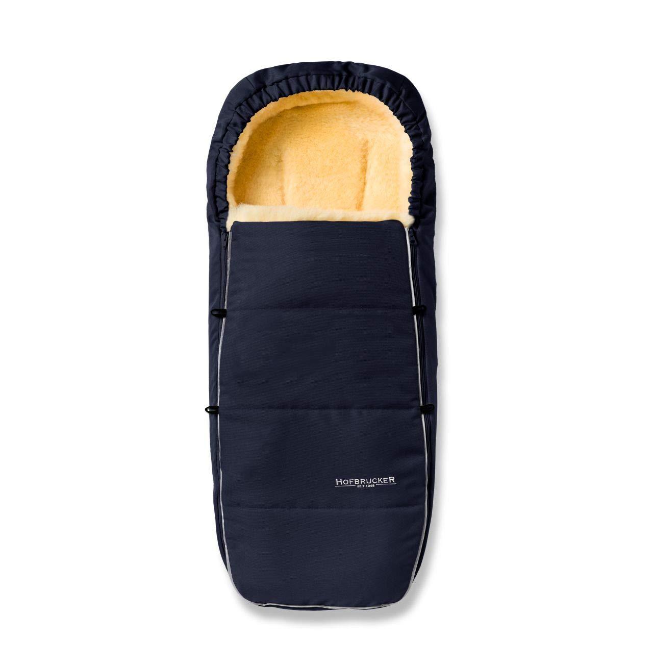 Hofbrucker Lammfell Fußsack Alaska Für Kinderwagen Und Buggy Babyfusssack Mit Lammfell Warmer Winterfußsack Mit Mumienform Babyfusssack Geeignet 0 3 Jahre Design Navy Blue Baby
