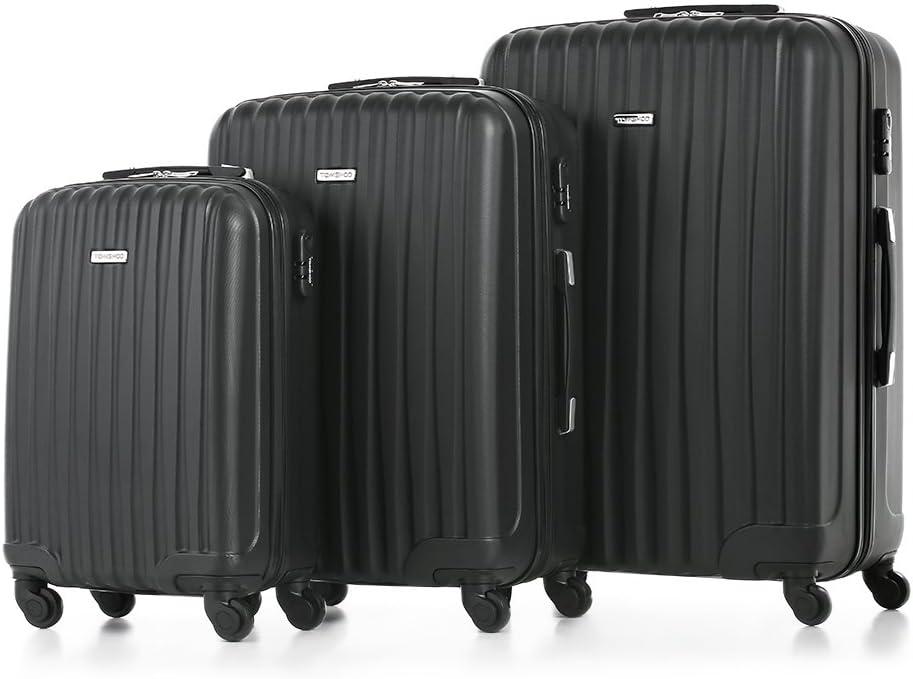 TOMSHOO Juego de Maletas Equipajes de Viaje Material de ABS 20
