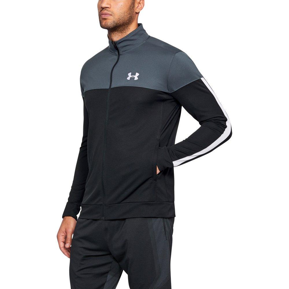 Under Armour Men's Sportstyle Pique Jacket, Stealth Gray (008)/White, XXX-Large