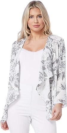 Roman Originals Womens Grey Floral Print Kimono Sizes 10-20