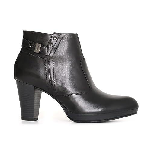 Nero Giardini donna tronchetti neri A719112D scarpe pelle inverno 2018 bb630dd5bbb