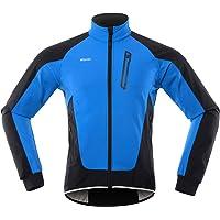 Lixada Chaqueta de Ciclismo para Hombre Impermeable, Resistente Al Viento y Cálida, Polar, Bicicleta de Montaña, Ropa de…