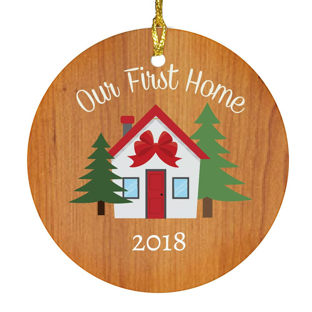 GiftsForYouNow Our First Home 2018 Ceramic Christmas Ornament