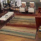Orian Rugs Striped Capizzi Multi Area Rug (5'3″ x 7'6″) For Sale